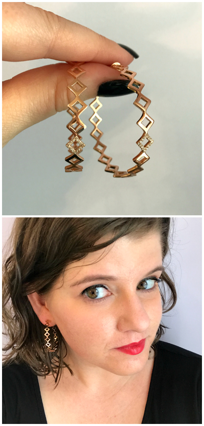 I love these hoops from Gigi Ferranti - the structure and pop of diamonds make them so cool!