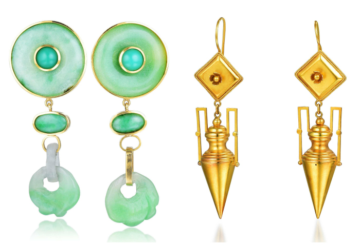 Two wonderful pairs of statement earrings from the Fortuna Summer Fine Jewels Sale