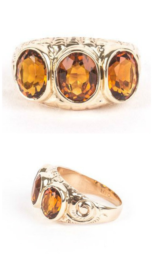 A beautiful citrine three stone ring from STORE 5a.