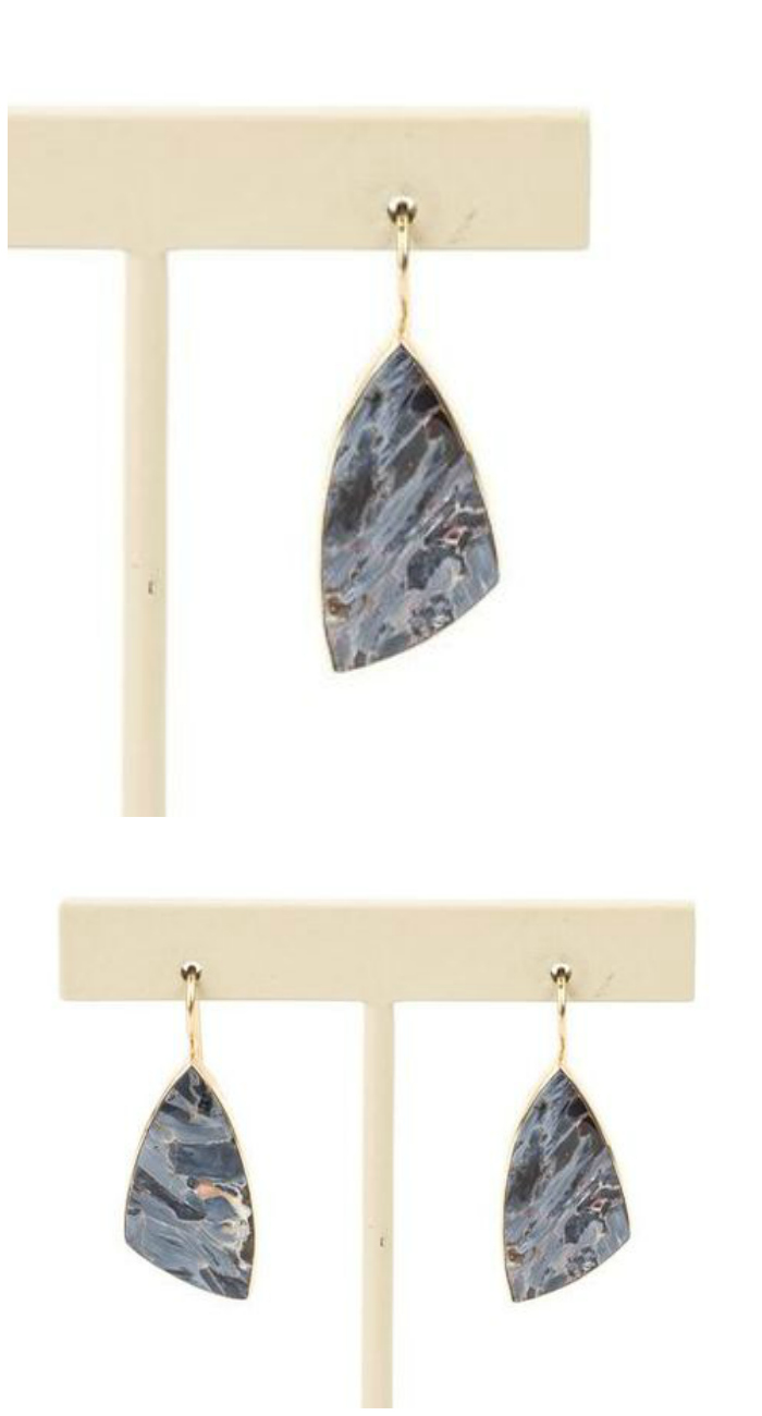 A pair of very cool shattuckite earrings from STORE 5a.
