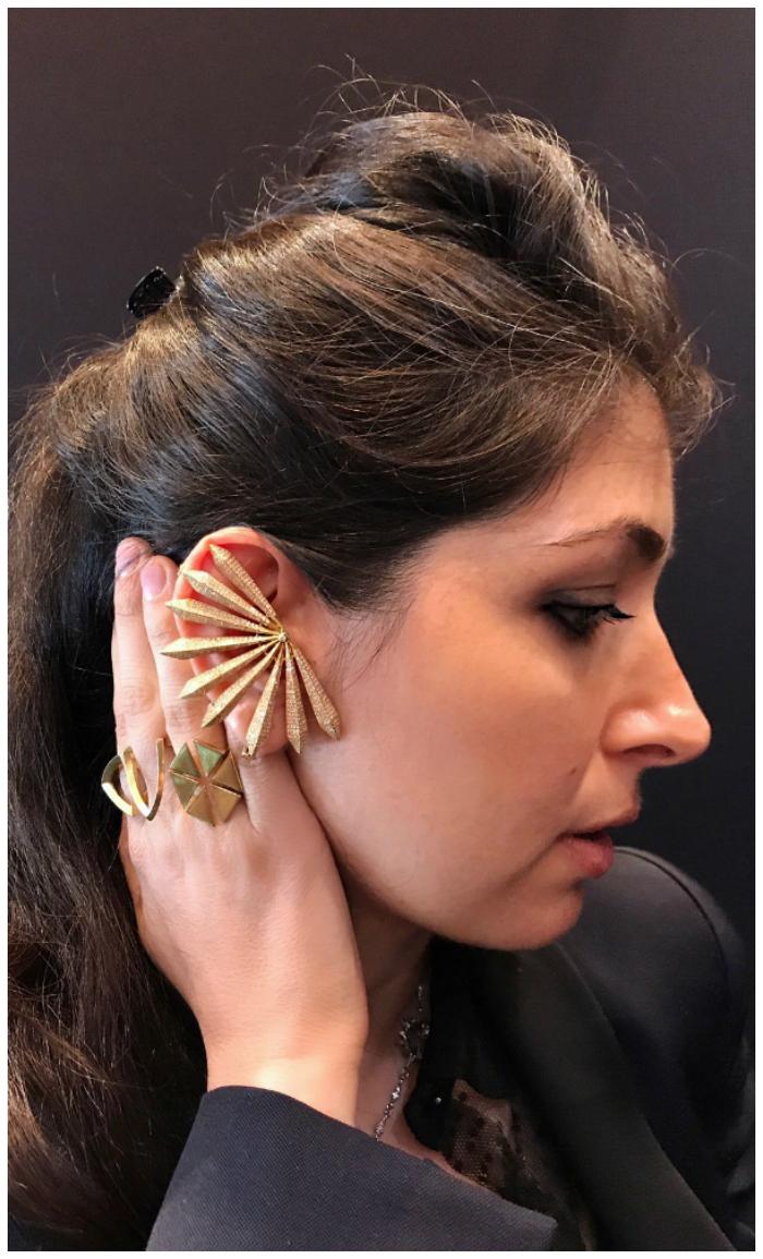 I love Karma El Khali's chic gold designs!