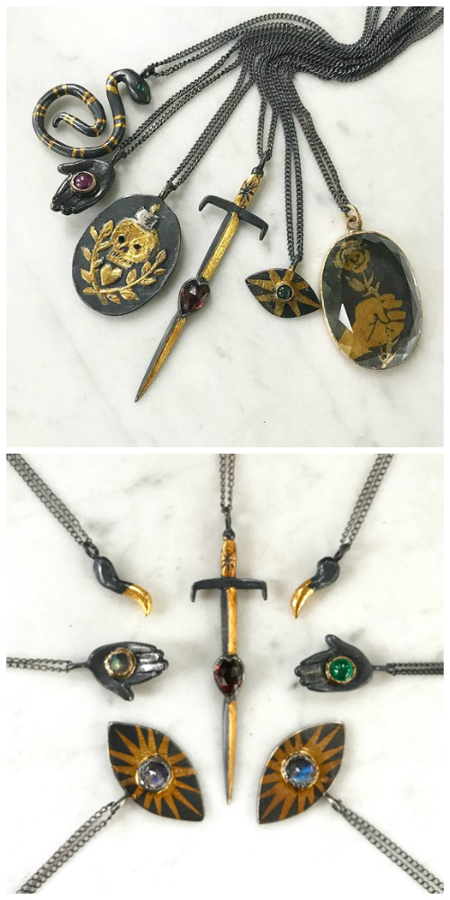 Beautiful pendant necklaces by Acanthus!
