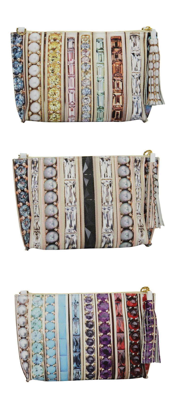 These beautiful Paige Gamble clutch bags are inspired by actual jewelry made by Jane Taylor Jewelry!