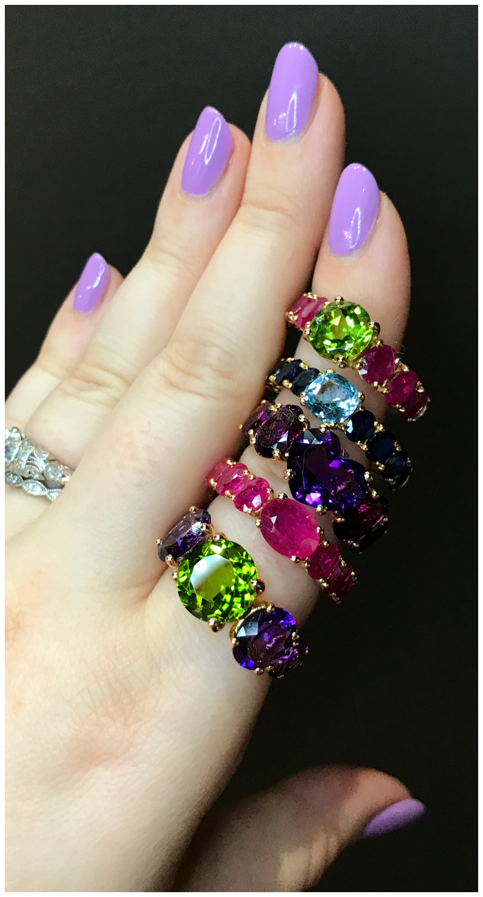I absolutely adore these gemmy rings by Casato! I don't know which one I love the most. Discovered at VicenzaOro.