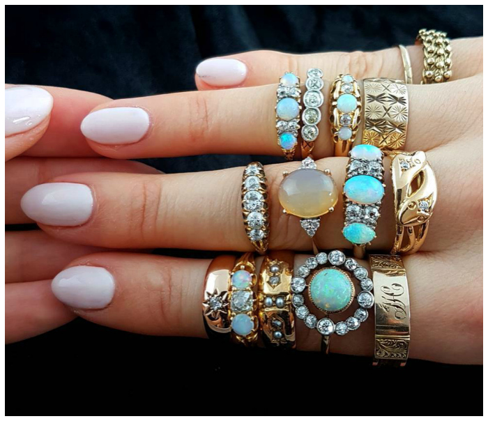 A handful of beautiful antique rings from Lillicoco!