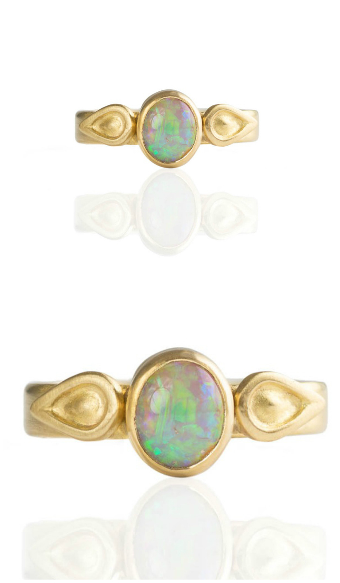 A one of a kind opal ring by Monica Marcella.