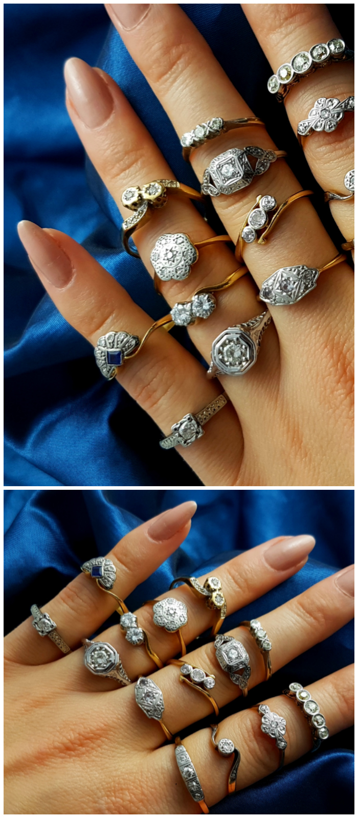Beautiful vintage and antique diamond rings from Lillicoco!