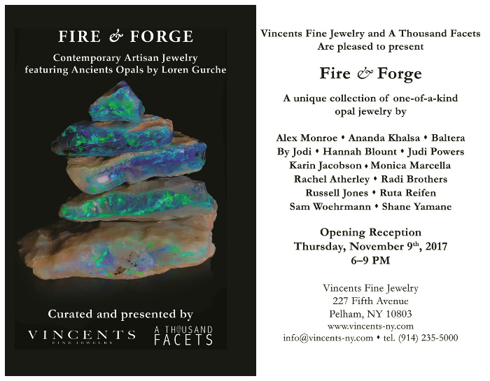 Fire and Forge at Vincents Fine Jewelry!! This even is a can't-miss, especially if you love opals.