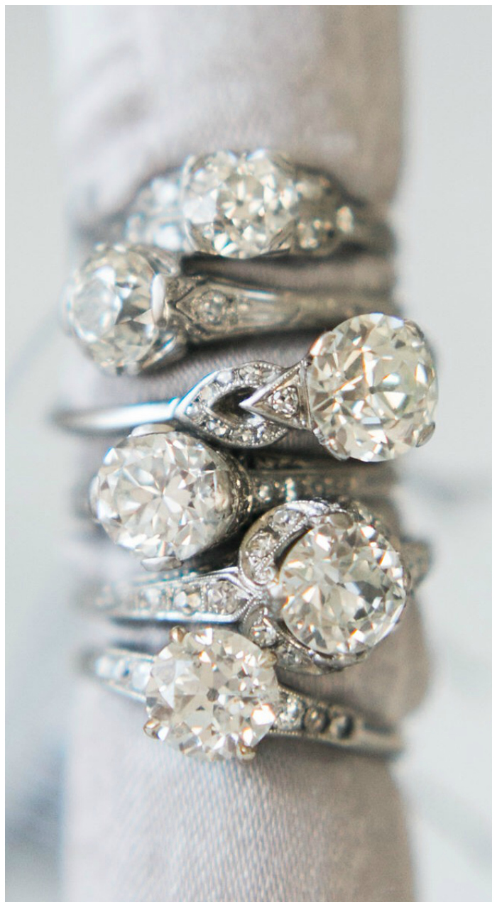 Beautiful vintage engagement rings from Victor Barbone.