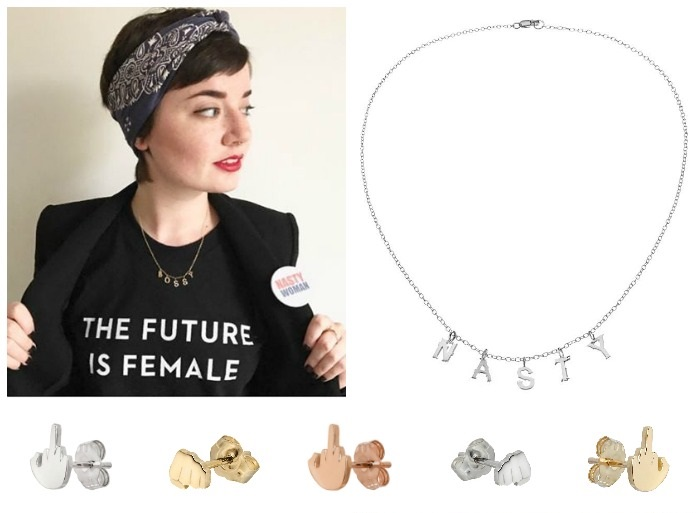 Feminist jewelry to wear while you smash the patriarchy.