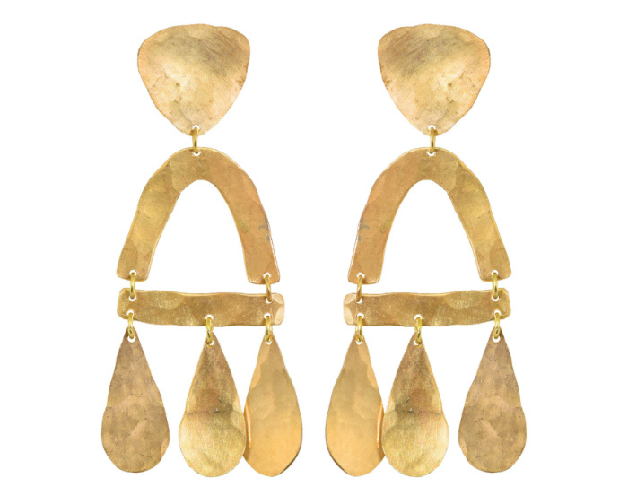 The Castara earrings by We Dream in Colour. Major statement earrings at a friendly price point.