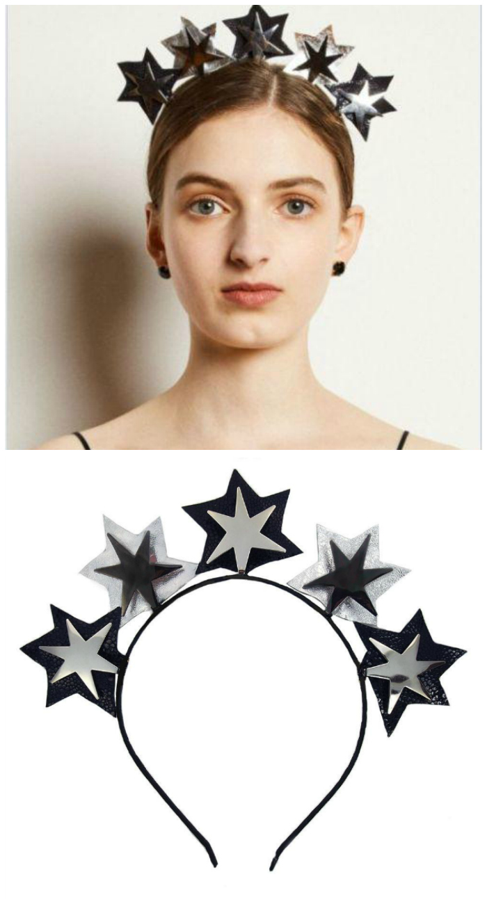 Black star headband by JY Jewels