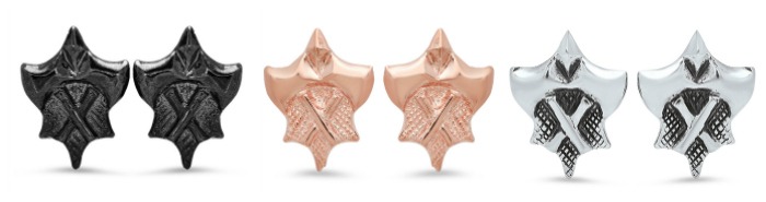 Hatchet Women Collection stud earrings by Kristen Dorsey.