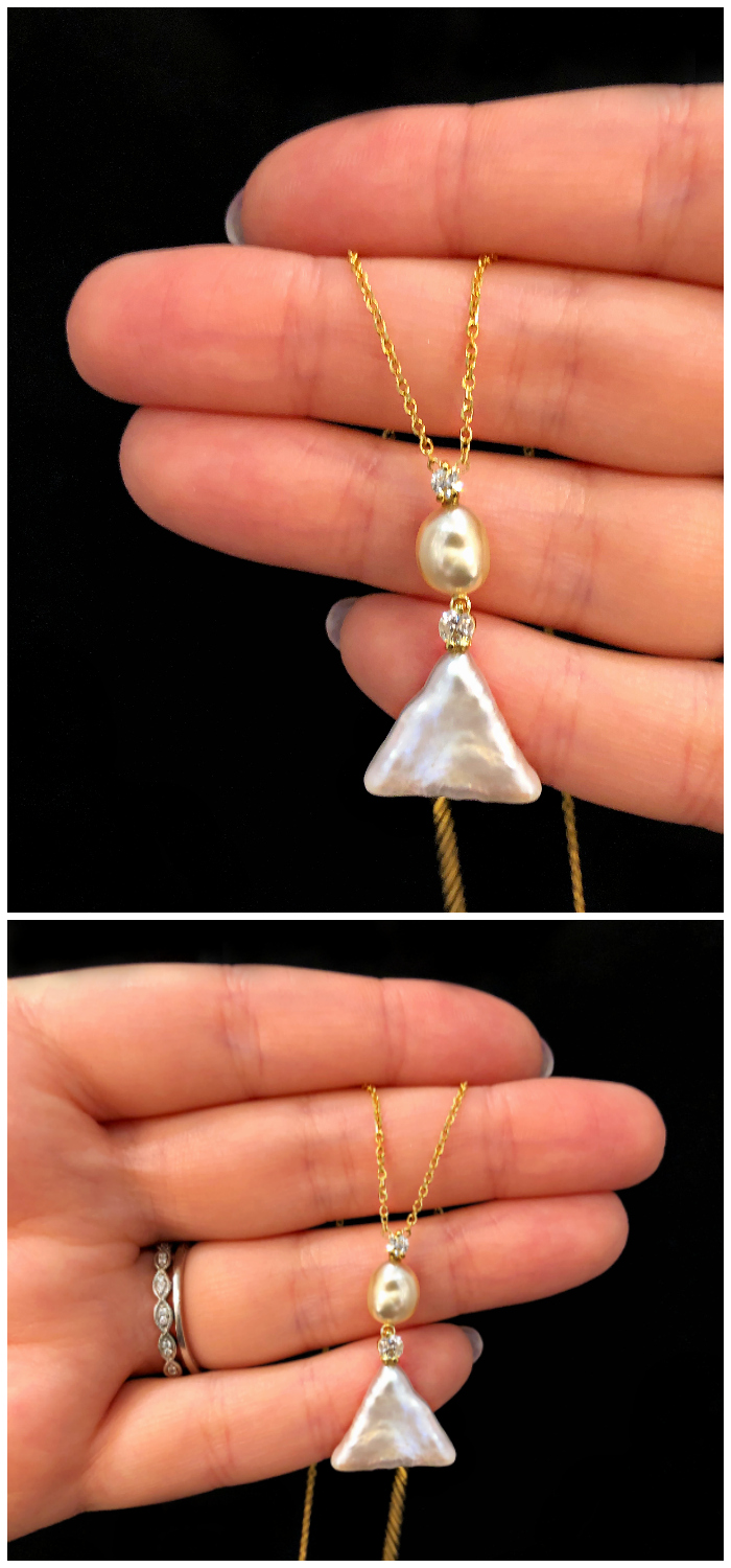 I'm really into this fresh, modern pearl and diamond pendant! By American Pearl Company!