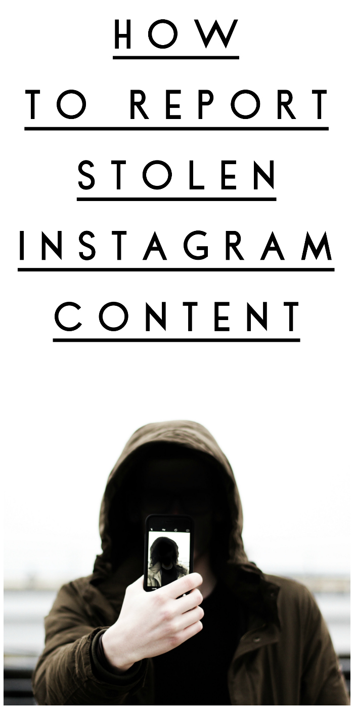 How to report stolen Instagram content! File an copyright infringement report if someone is using your IG photos or videos without your permission.