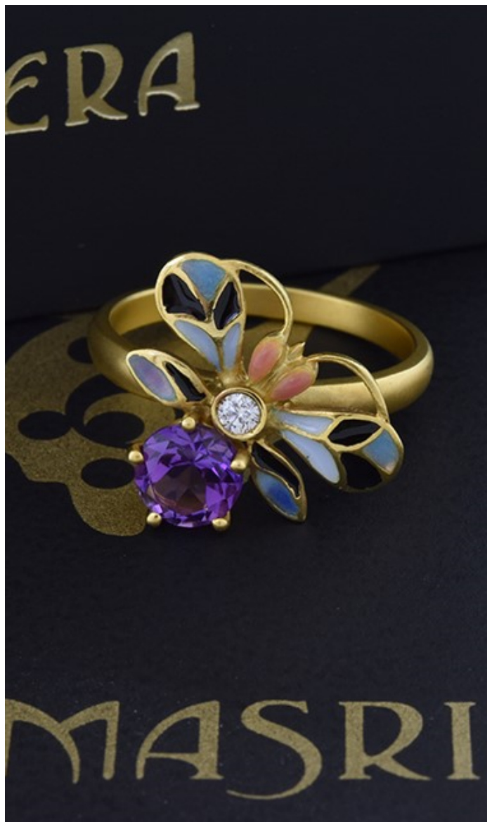 A beautiful Art Nouveau ring by Masriea! In the collection of Joden Jewelry.