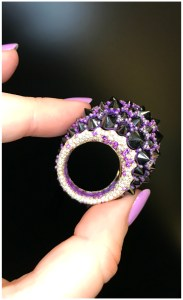 This ring is so badass!! It's by Mattioli, and features incredible reverse set black diamonds. Discovered at VicenzaOro.