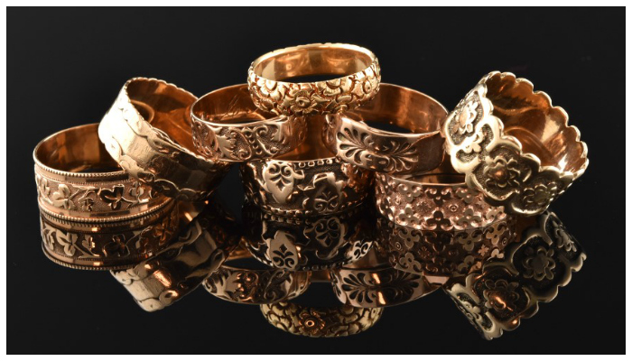Victorian era wedding bands featured on Joden Girl.