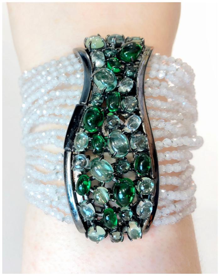 A beautiful multi-strand bracelet by DAGO Jewels Milano. One of the Extraordinary Italian jewelry brands I saw in Las Vegas!