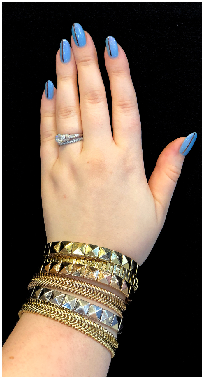 A stack of gorgeous gold bracelets by Chimento! Classic Italian jewelry design in action.