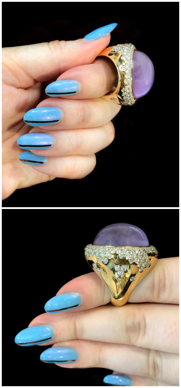 A wonderful gemstone and diamond ring by gioielliamo!! Beautiful Italian design.