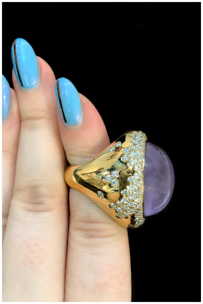 A wonderful gemstone and diamond ring by gioielliamo! I love Italian jewelry design.