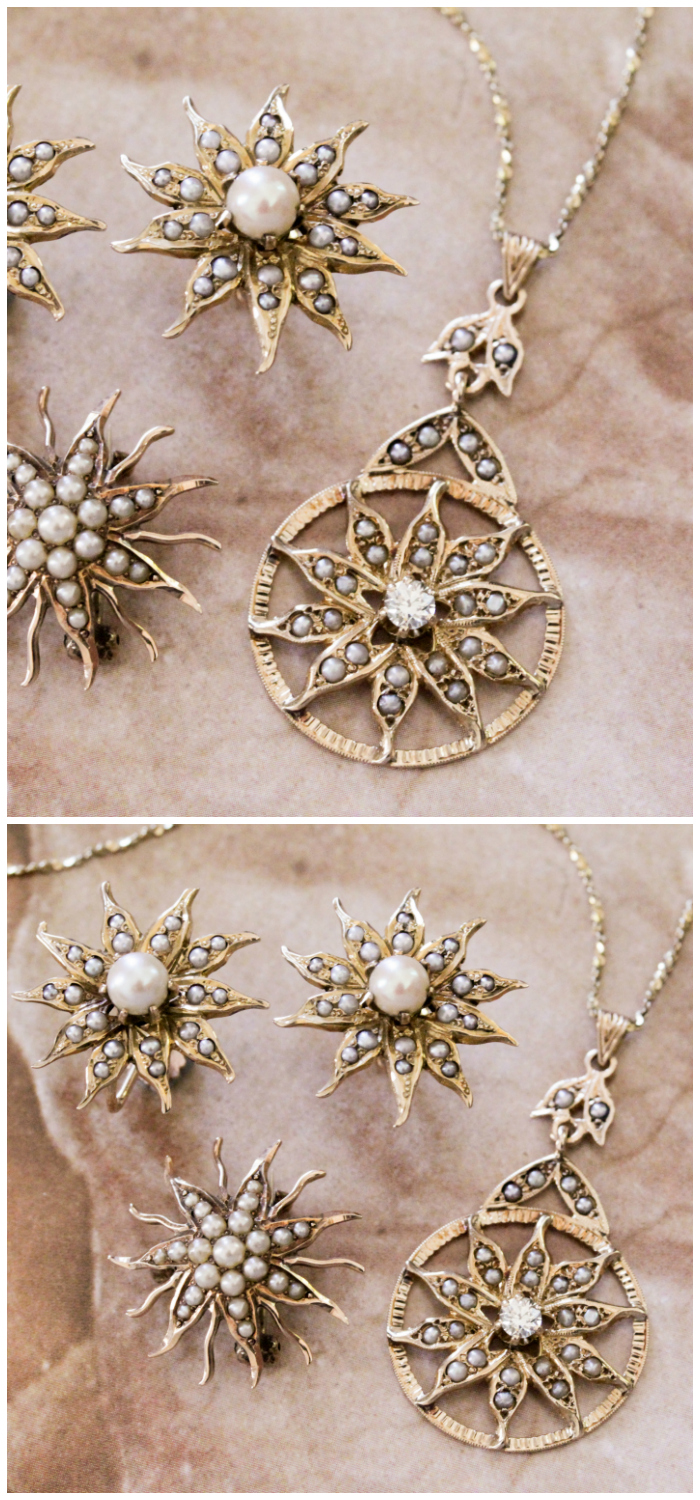 Beautiful Victorian seed pearl jewelry from Market Square Jewelers!