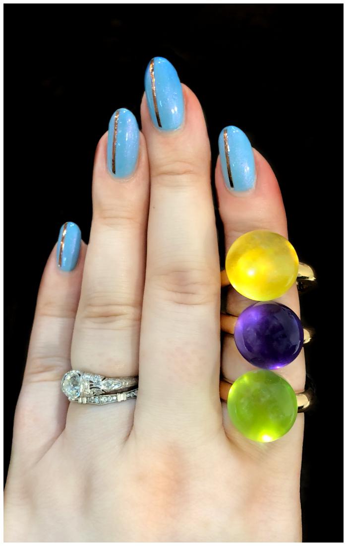 Beautiful, colorful rings by gioielliamo!! Beautiful Italian design.
