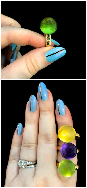 Beautiful, colorful rings by gioielliamo!! Extraordinary Italian design.