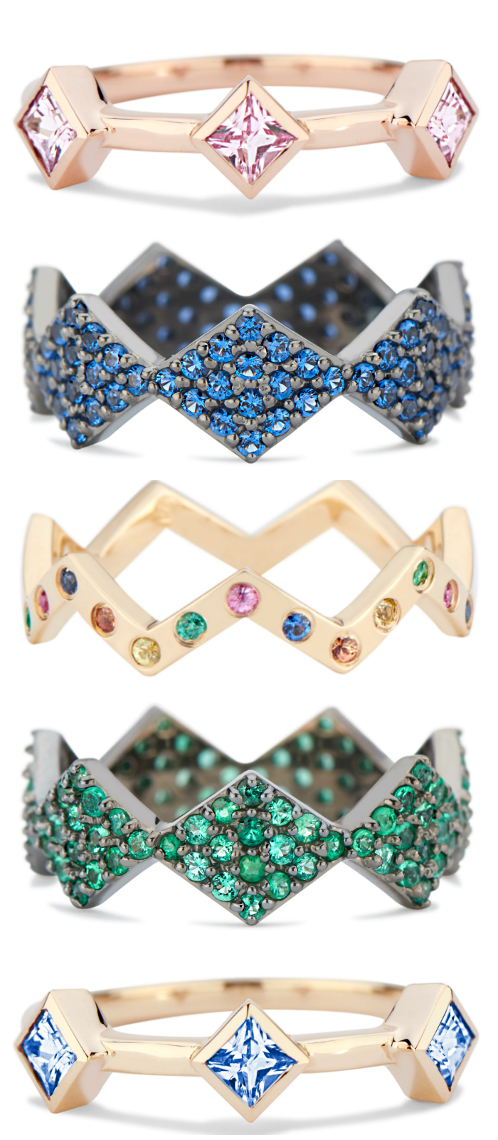 Stacking rings by GiGi Ferranti!! I want all of these.