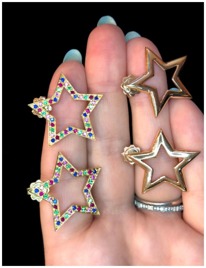 Star earrings by Italian jewelry brand Spallanzani!!