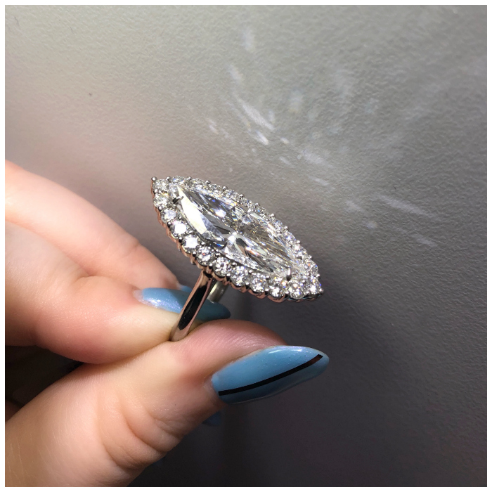 A stunning marquise diamond ring by Rahaminov Diamonds! What a killer engagement ring.