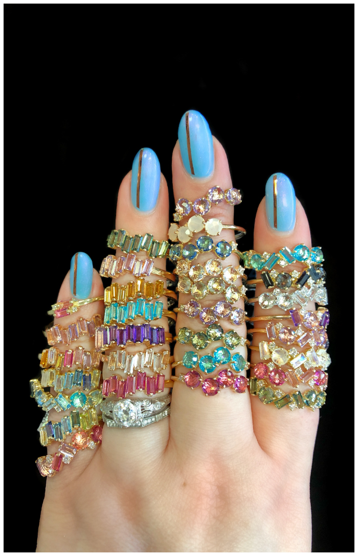 Glorious, colorful gemstone rings from Kalan 14, Suzanne Kalan's 14K gold collection!