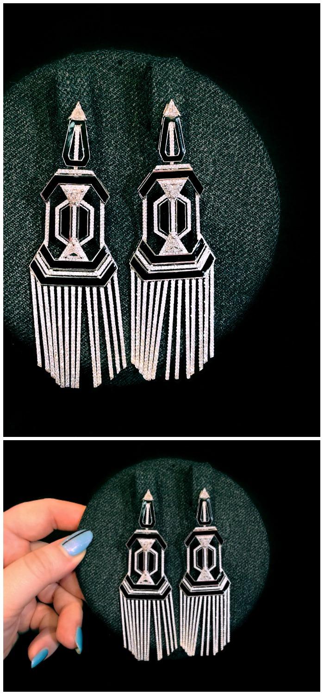 Glorious diamond earrings by award-winning Greek jewelry designer Nikos Koulis.
