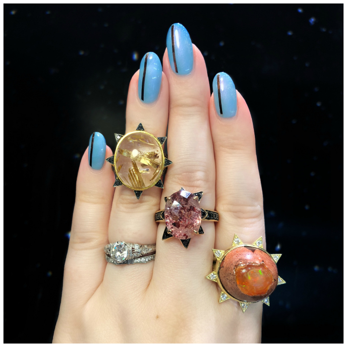 Three beautiful rings by M. Spalten!! This hot new designer's work is thrilling.
