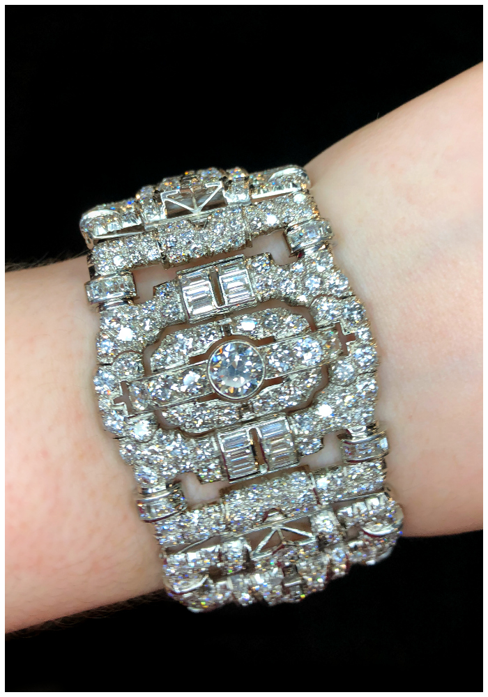 A magnificent antique Art Deco diamond bracelet! Spotted at JS Jewels LTD and Keith MacRae.