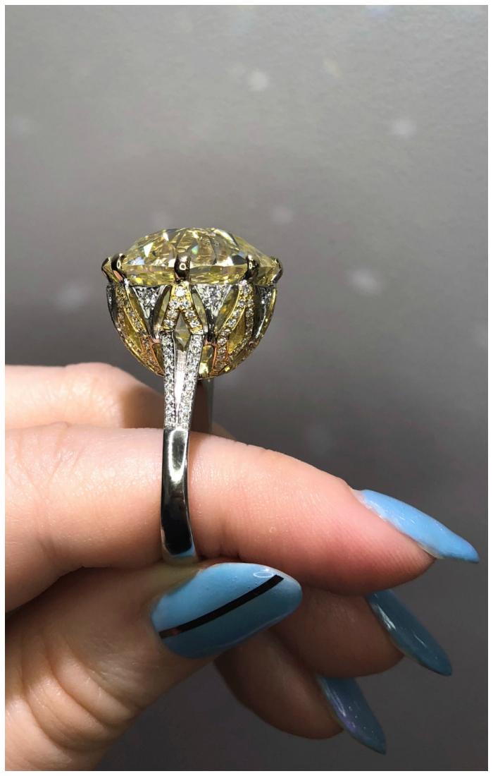 A stunning old mine cut diamond ring by Rahaminov Diamonds!! This killer ring is 25 carats.