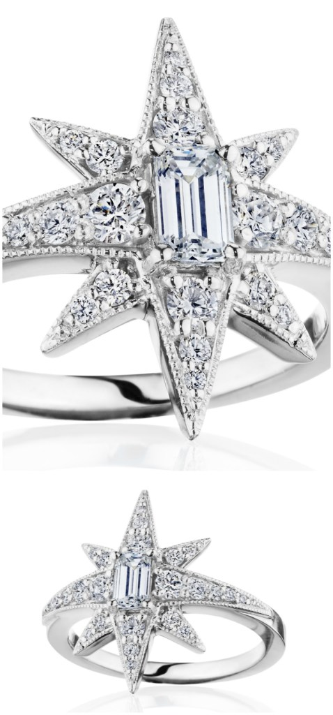 Diamond star ring by Penny Preville. I love this starburst design!