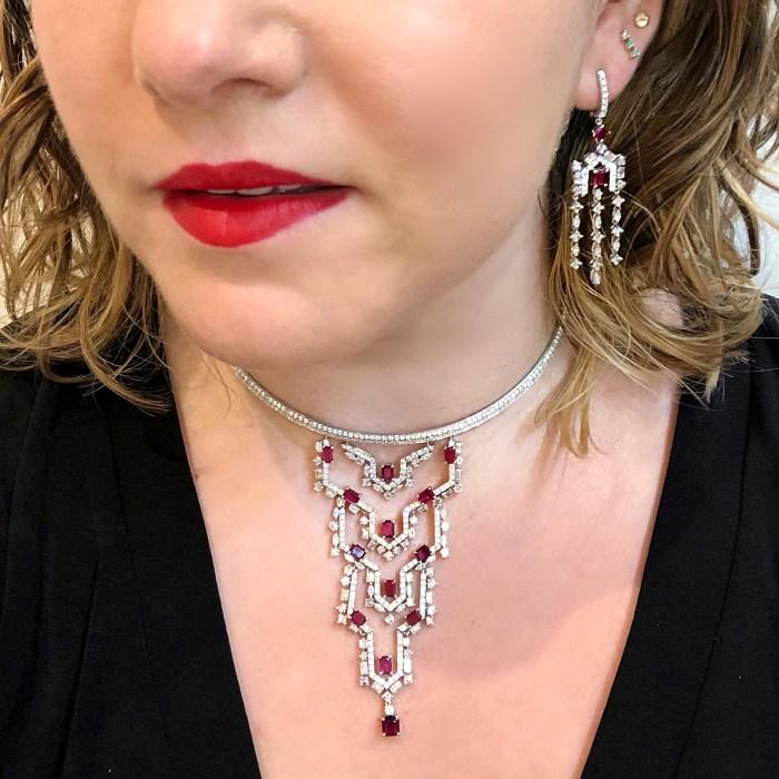 Glorious ruby and diamond jewelry by Carlo Barberis!