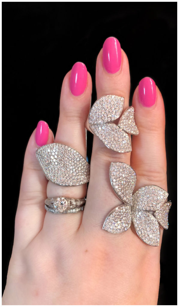 Lovely, leafy diamond rings by Pasquale Bruni! These are as comfortable as they are glamorous.