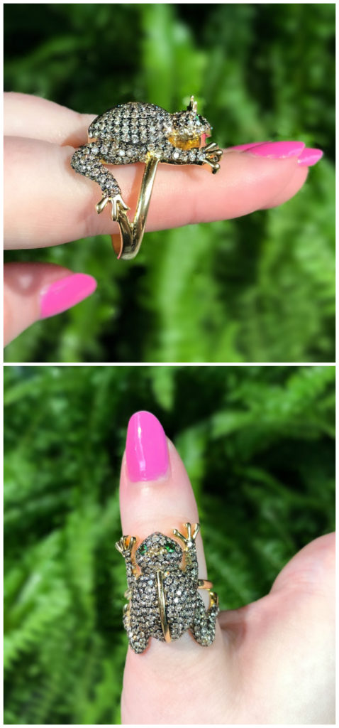 The Frog Prince ring by Cedille Paris!! He even has a little golden crown. .