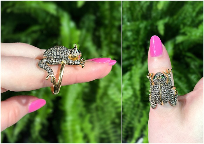 The Frog Prince ring by Cedille Paris!! He's ready for a kiss. He even has a little golden crown.