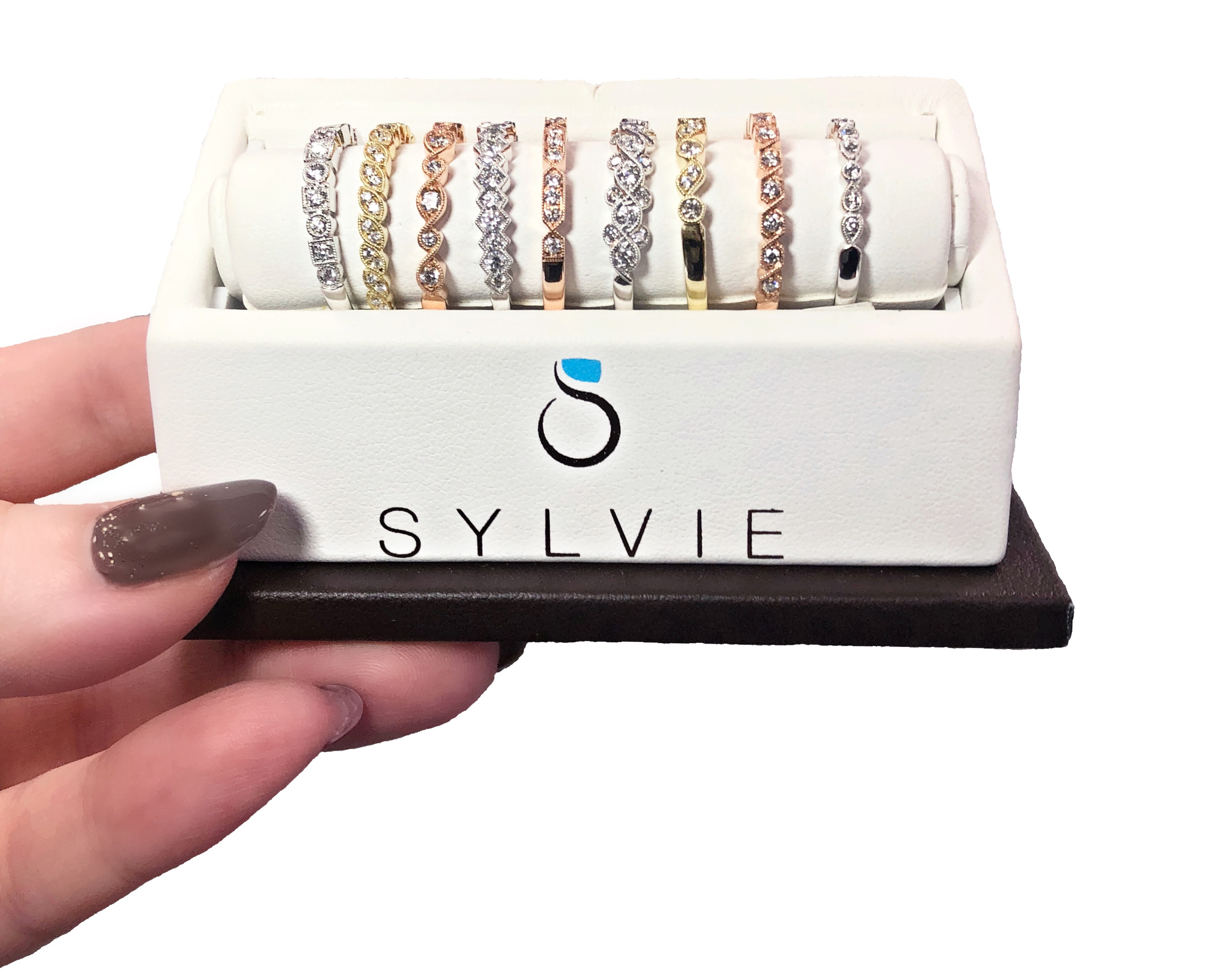 I love Sylvie Collection's diamond stacking bands! And so will you - enter to win one for free!