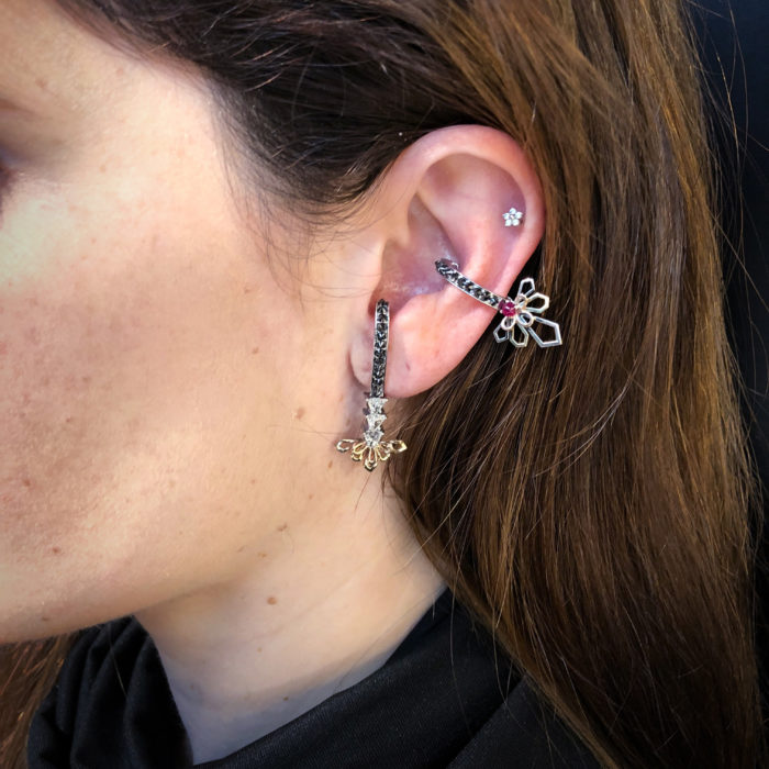 I love these ear cuffs by Bia Tambelli! Such creative earrings. Rubies, diamonds, black diamonds, and more.