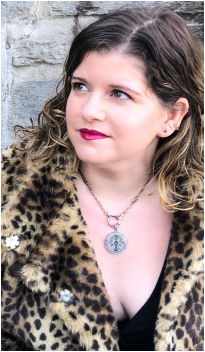 Wearing beautiful Heavenly Vices necklaces!! The pendants are made from Victorian era love tokens.
