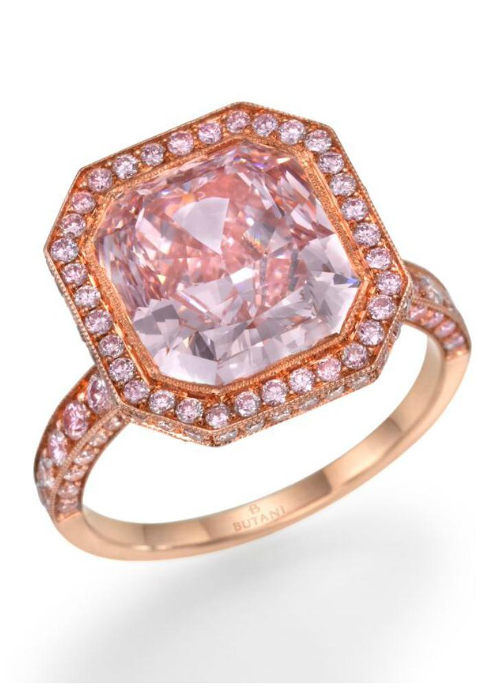 A stunning pink diamond engagement ring by Butani!