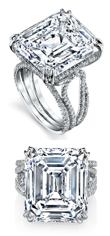 An incredible diamond engagement ring by Harry Kotlar!