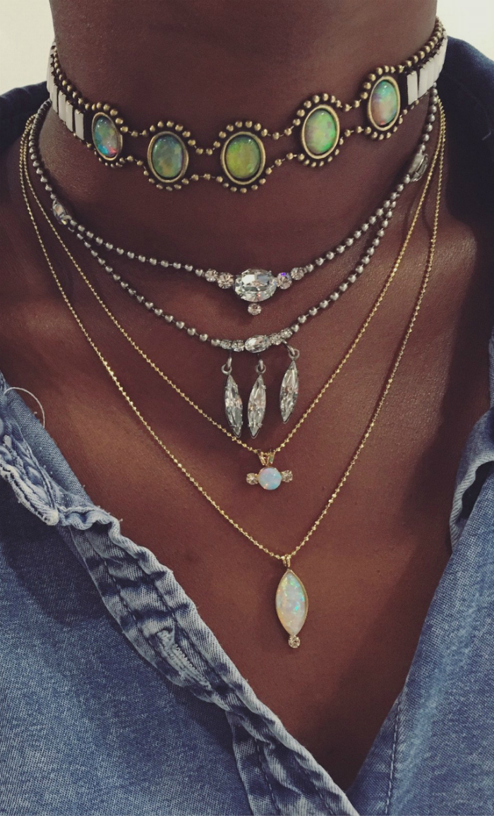 Killer necklaces by Lionette NY! I love all of these and they're so chic styled together.
