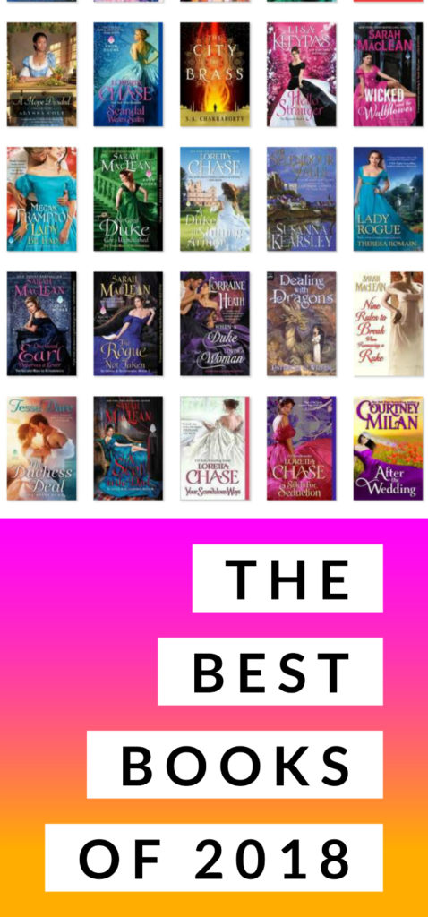 My personal best books of 2018! A little YA, a little fantasy, a little SciFi...and a lot of Romance.