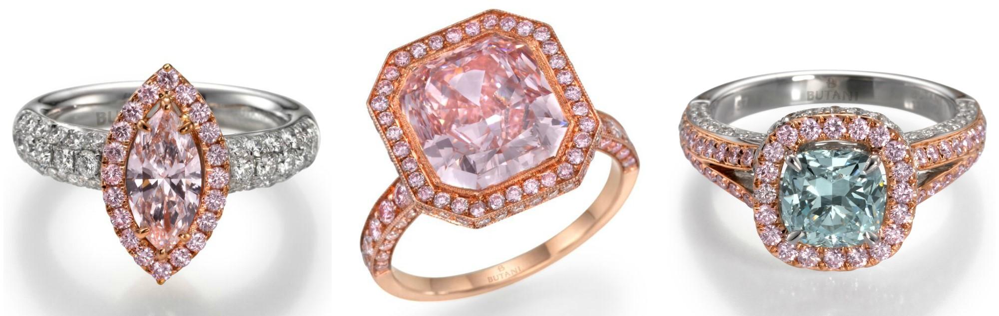 Stunning colored diamond rings by Butani! So beautiful.